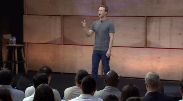 Mark Zuckerberg speaking at Luiss University