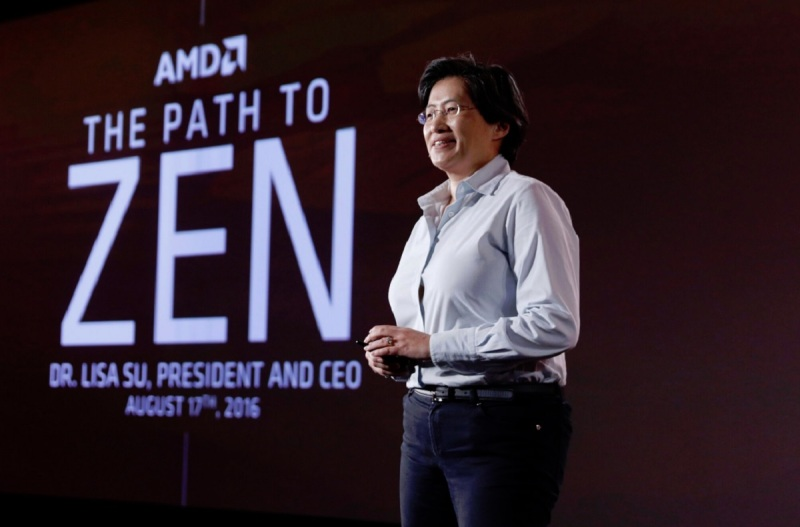 AMD CEO Lisa Su introduces Zen.