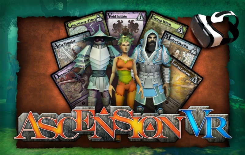 Ascension VR is a fantasy card game in virtual reality.