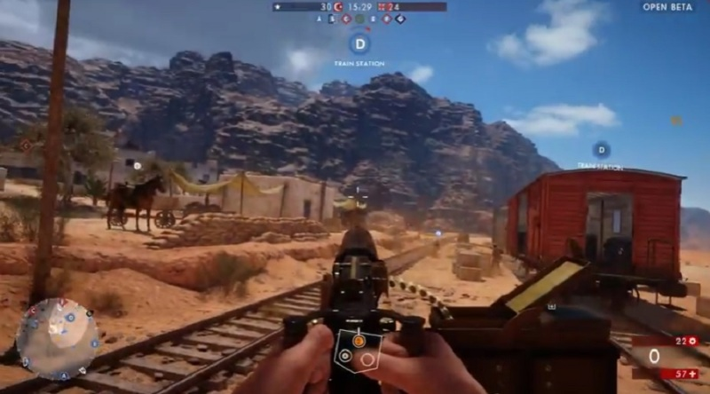 Battlefield 1 Sinai Desert map.