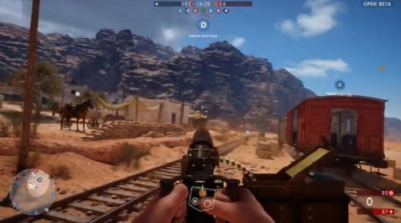 Battlefield 1 Sinai Desert map.