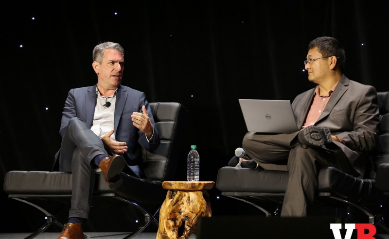 David Haddad, president of Warner Bros. Interactive Entertainment, and Dean Takahashi of GamesBeat.