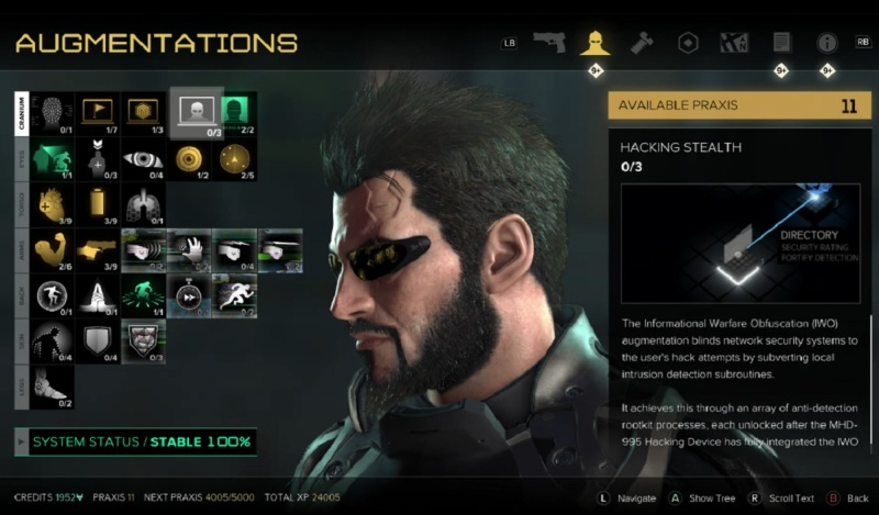 Spend Praxis points wisely on your augs in Deus Ex: Mankind Divided.