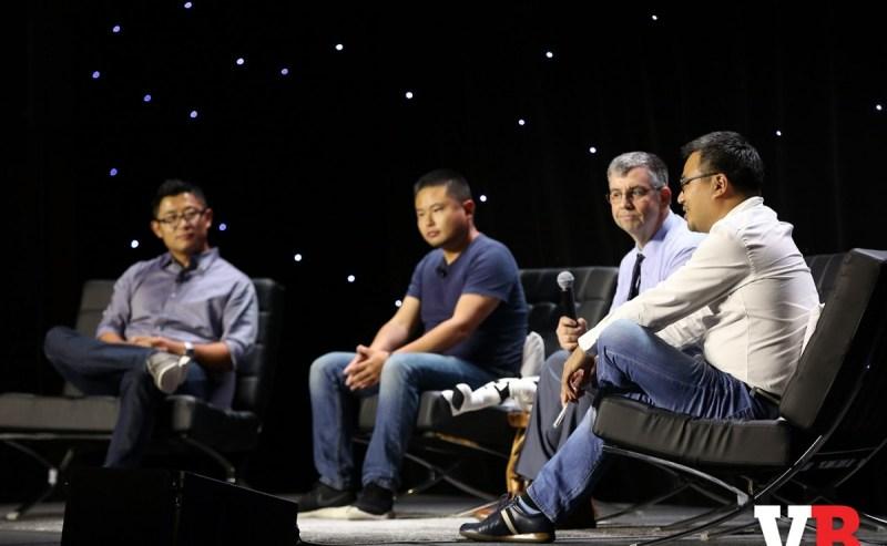 Panelists (left to right) James Zhang of Concept Art House, Roy Liu of Linekong USA, Jason Wilson of GamesBeat, and Daniel Cho of Innospark.