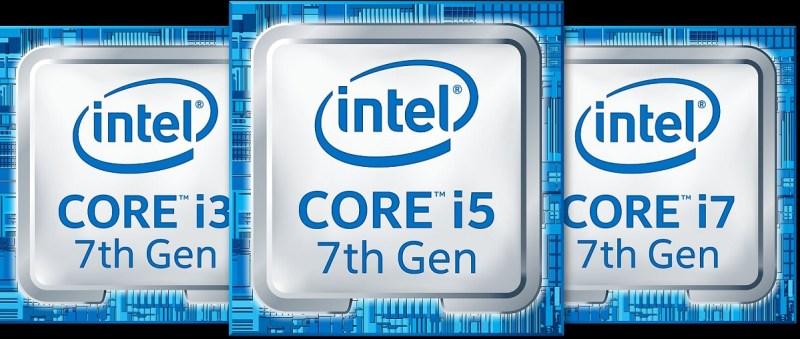 Intel 7th Gen Core processors will come in three different brands.