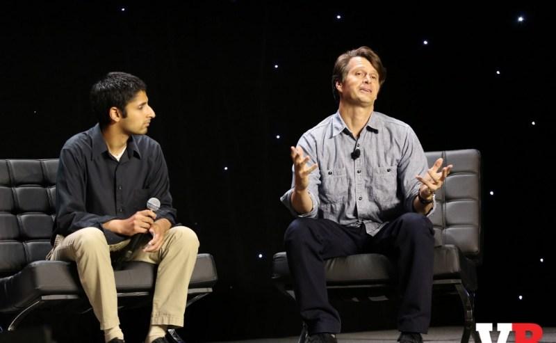 Paresh Dave of the LA Times and John Hanke of Niantic Labs at GamesBeat 2016.