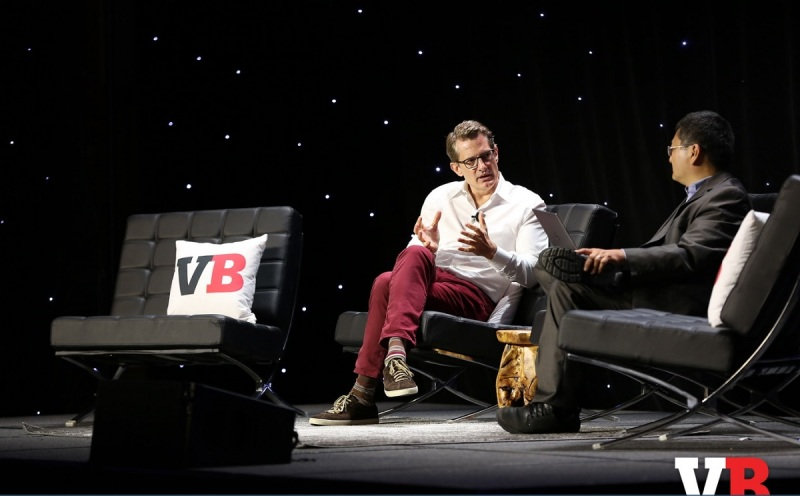 Kent Wakeford and Dean Takahashi at GamesBeat 2016.