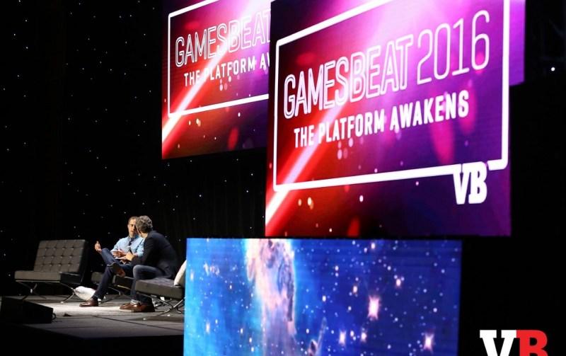 Lee Jones of Google and Matt Marshall of VentureBeat at GamesBeat 2016.