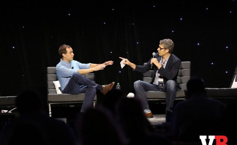 Lee Jones of Google and Matt Marshall of VentureBeat.