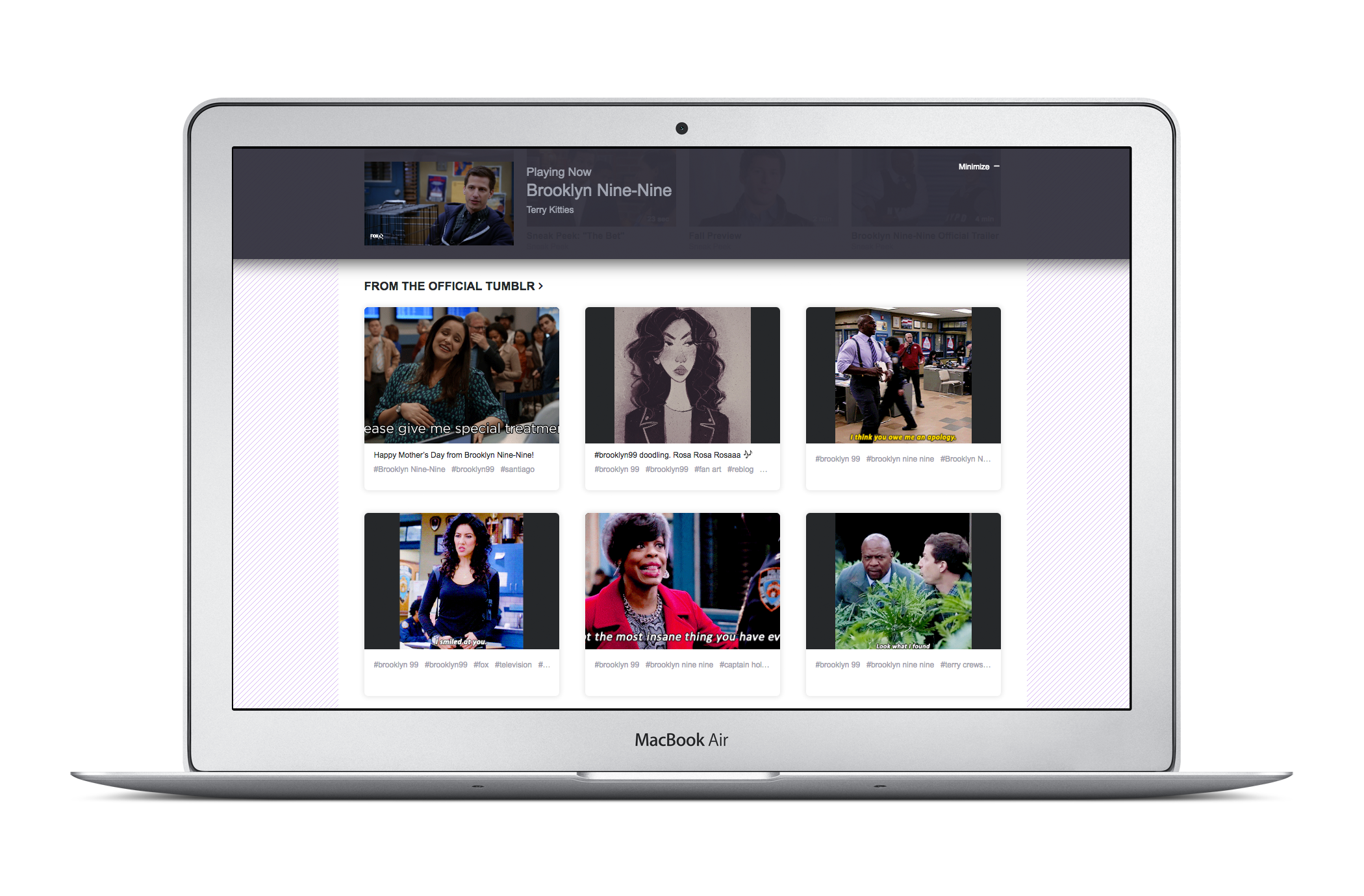 Yahoo View not only lets you watch shows from Hulu, but provides fan elements from Tumblr, such as GIFs.
