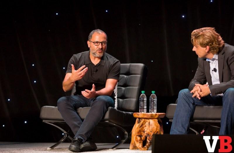Neville Spiteri of Wevr and Michael Metzger of Houlihan Lokey at GamesBeat 2016.