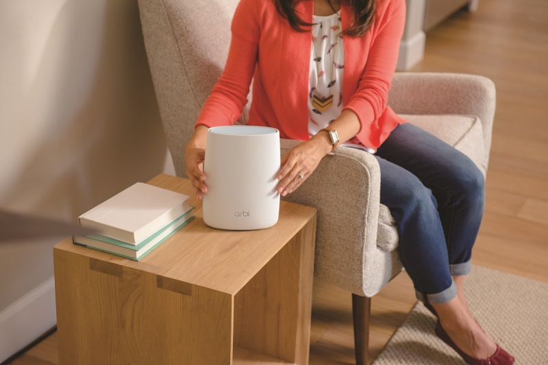 Orbi satellite is easy to set up in the center of your home.