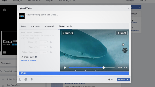 Facebook's guide tool for publishers around 360 videos.