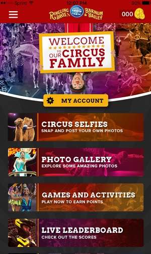The app for the Ringling Bros. Barnum & Bailey Circus.