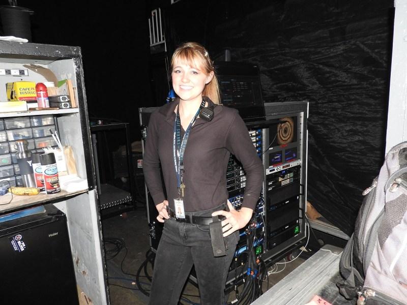 Lorelei Owens, head of lighting and pyrotechnics at Ringling Bros. Barnum & Bailey Circus.