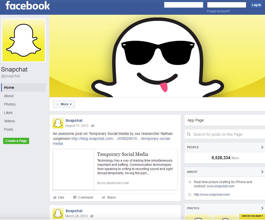 snapchat_facebook_page