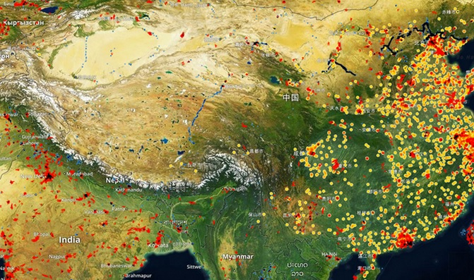 Spaceknow monitors manufacturing activity in China
