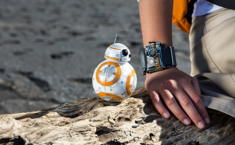 You can control BB8 with your Force Band from Sphero.