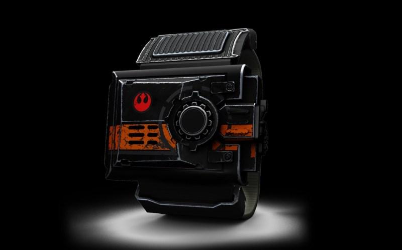 Sphero Star Wars Force Band makes Jedi lightsaber sounds.