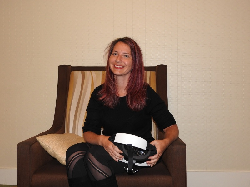 Theresa Duringer runs Temple Gate Games, maker of VR titles.