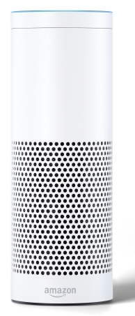 Amazon Echo-White, Front, On