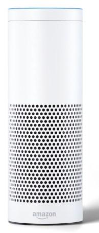 Amazon Echo-White, Front, On