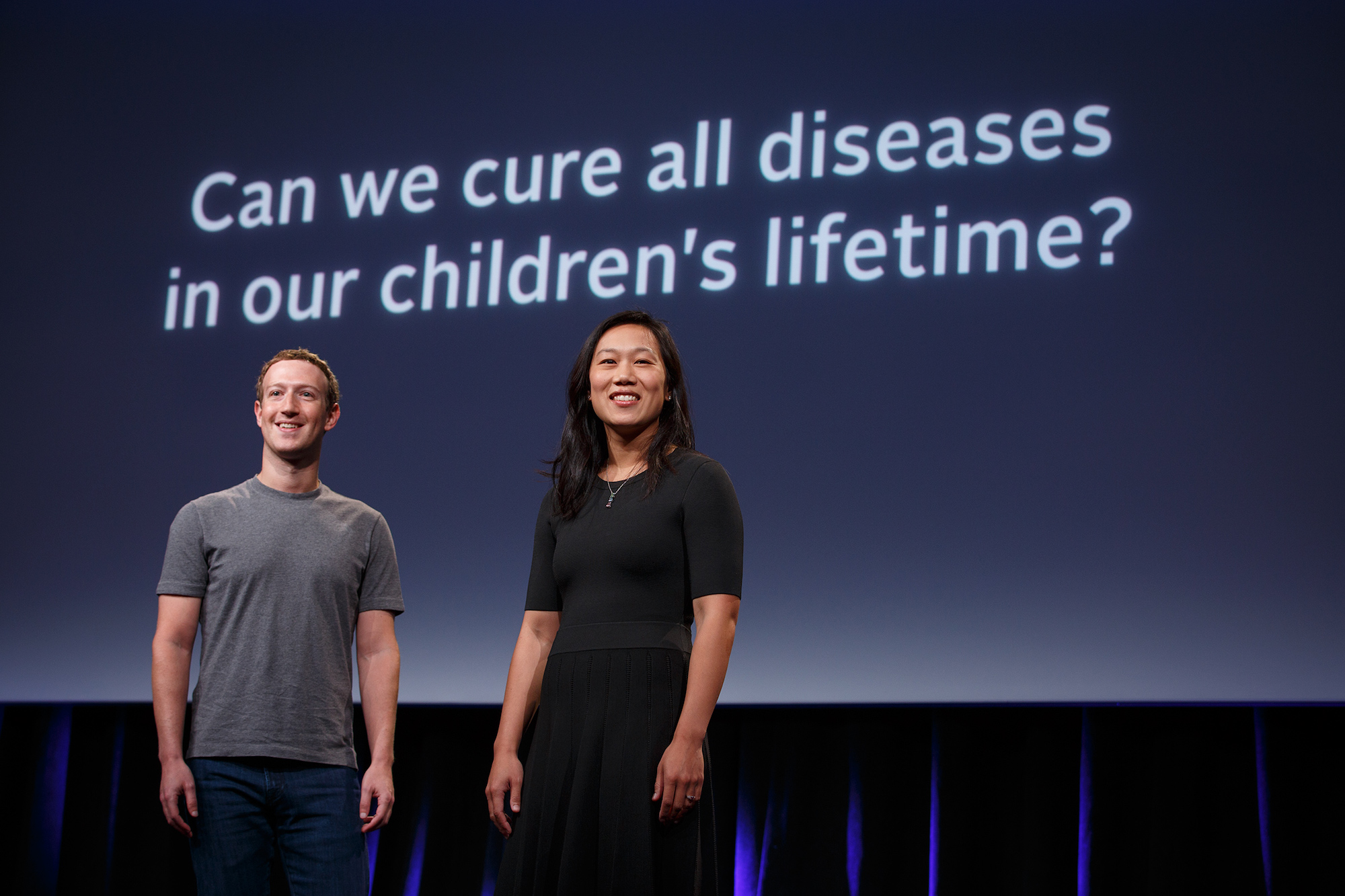 Mark Zuckerberg and Priscilla Chan announce $3 billion initiative to 'cure all diseases'