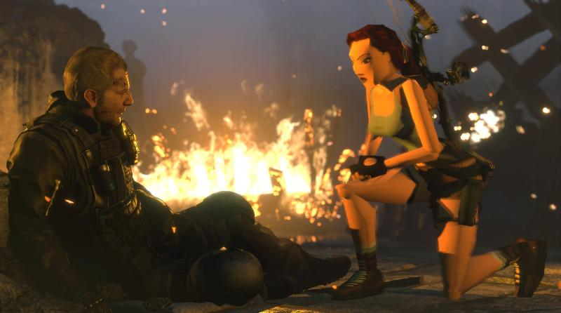 You can play with classic Lara Croft in Rise of the Tomb Raider.