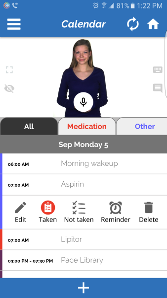 Abby the personal assistant on the Companion app by Identifor