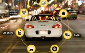 This photo shows that cars have joined the Internet of Things.