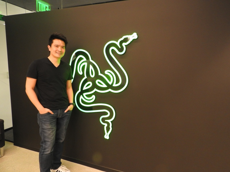 Min-Liang Tan, CEO of Razer, at the company's headquarters in San Francisco.