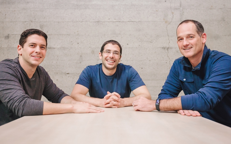This photo shows Remind's cofounders: David Kopf (left), Brett Kopf (center), and CEO Brian Grey (right).