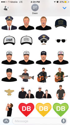 Dierks Bentley stickers.