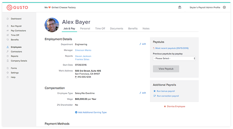 Gusto adds HR features to its payroll and benefits platform