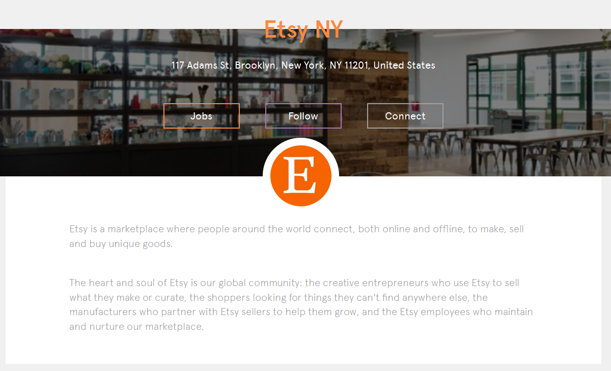 Etsy on Jobbio