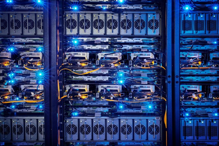 Servers in Facebook's datacenter in Lulea, Sweden.