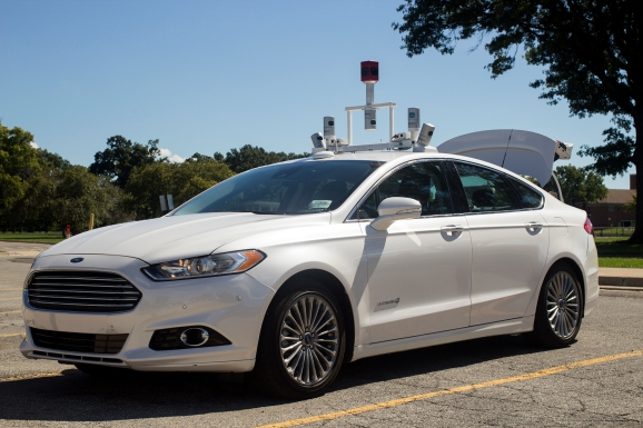 A Ford self-driving car prototype.