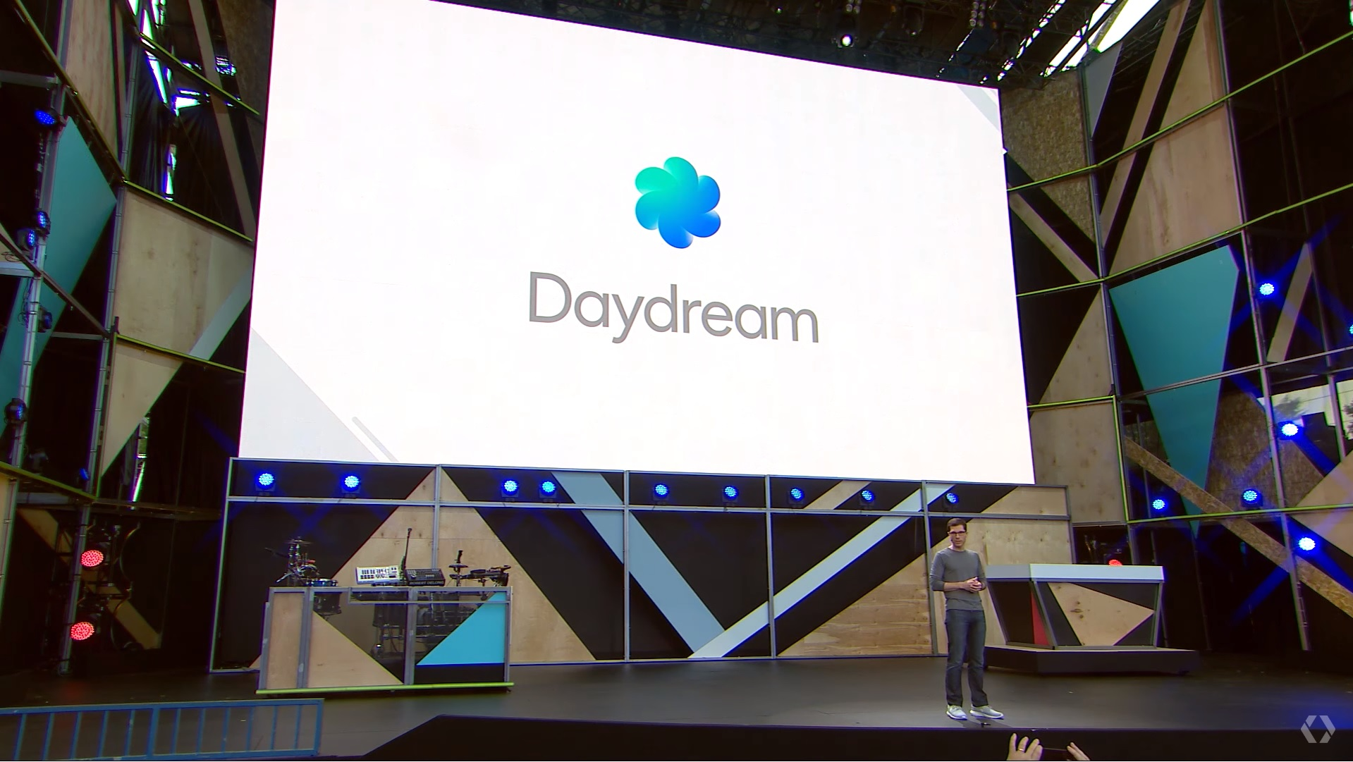 Google VR head Clay Bavor talks about Google Daydream at the Google I/O developer conference in Mountain View, California, in May 2016.