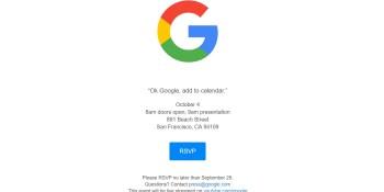 Google sends invitations for October 4 hardware event