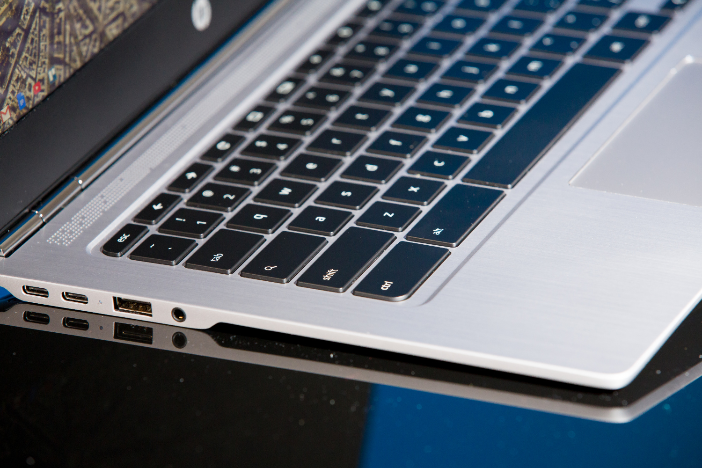 The keyboard on the HP Chromebook 13.