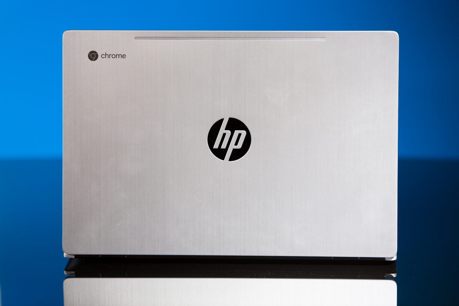 The lid on the HP Chromebook 13.