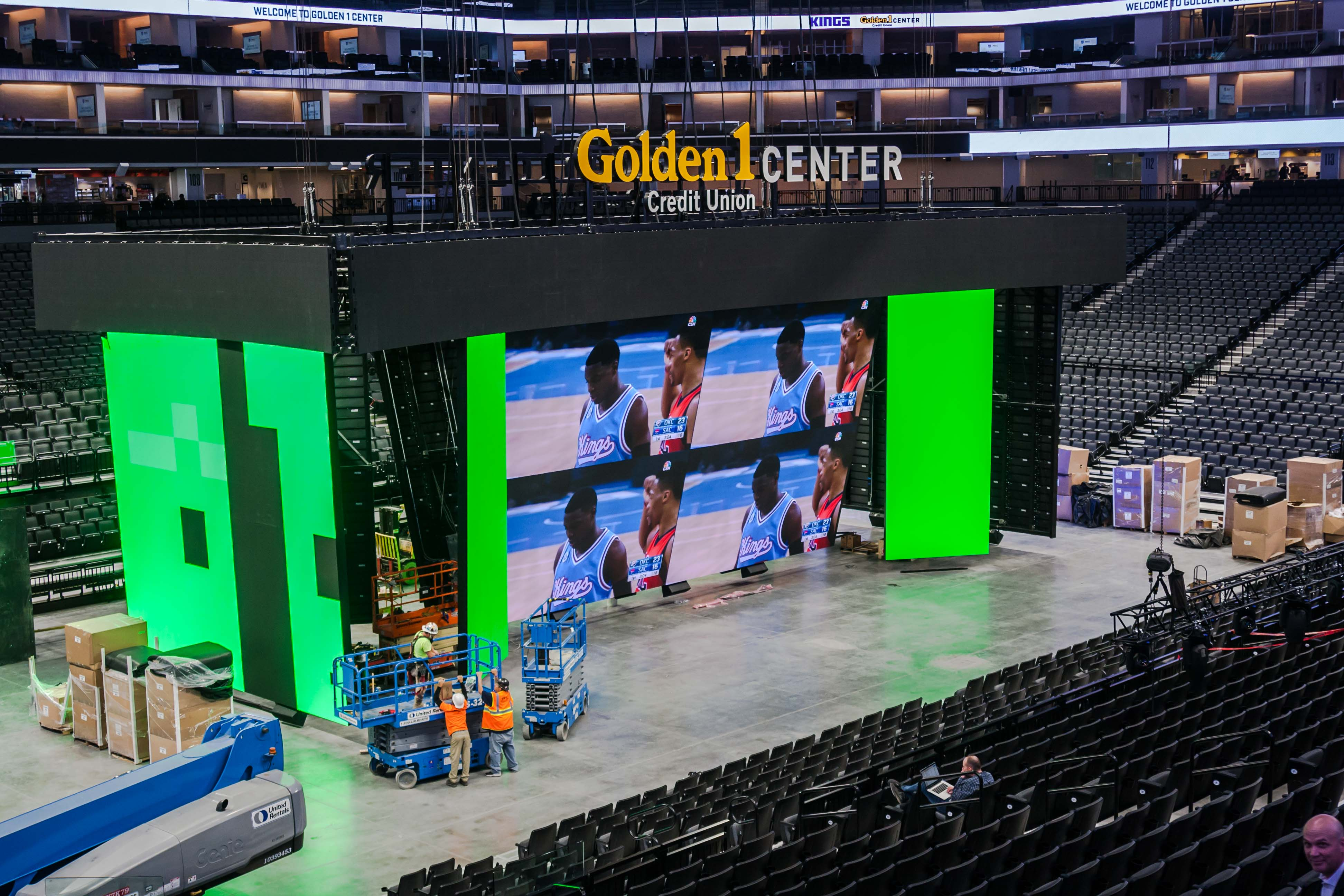The Sacramento Kings have installed a 4K scoreboard in its new arena, The Golden 1 Center,