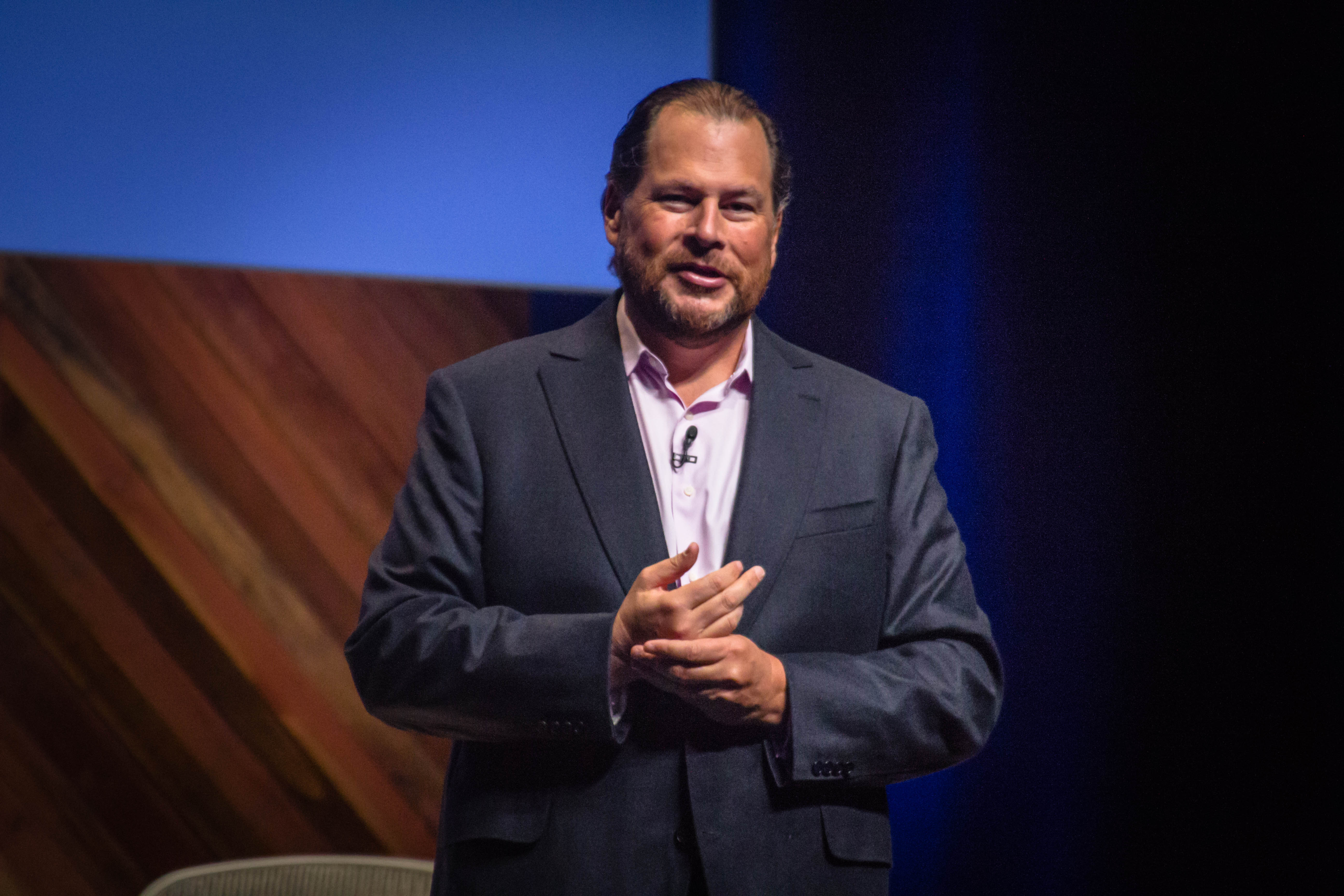 Salesforce chief executive Marc Benioff at Dreamforce 2015 in San Francisco, Calif.