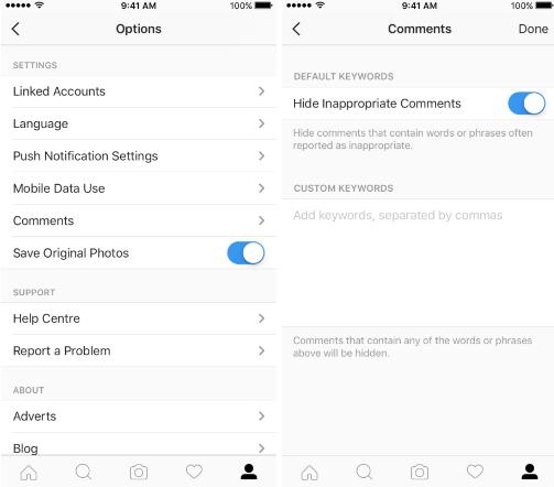 Keyword Moderation Tool (Instagram)