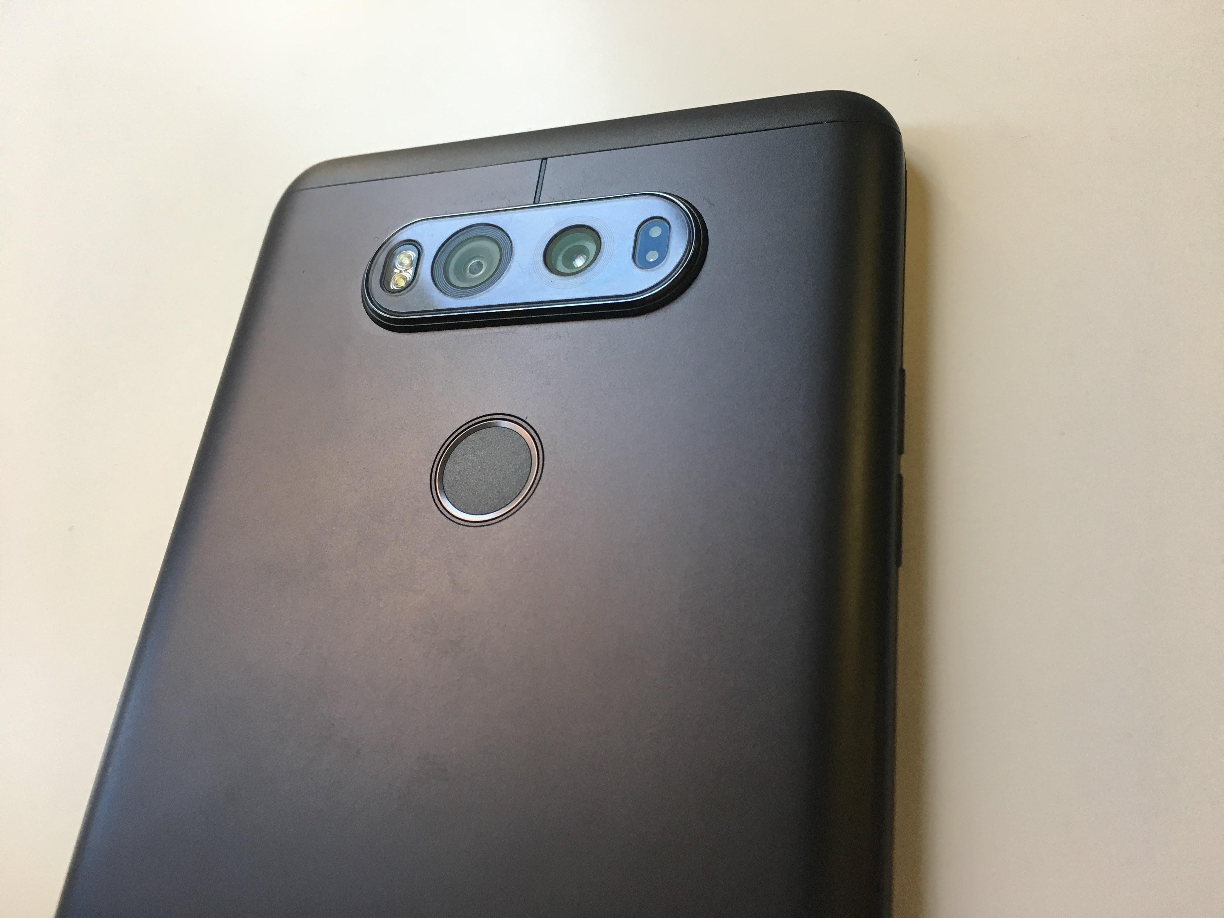 The dual cameras on LG's V20.