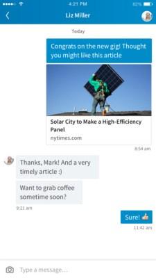 LinkedIn Messaging on mobile