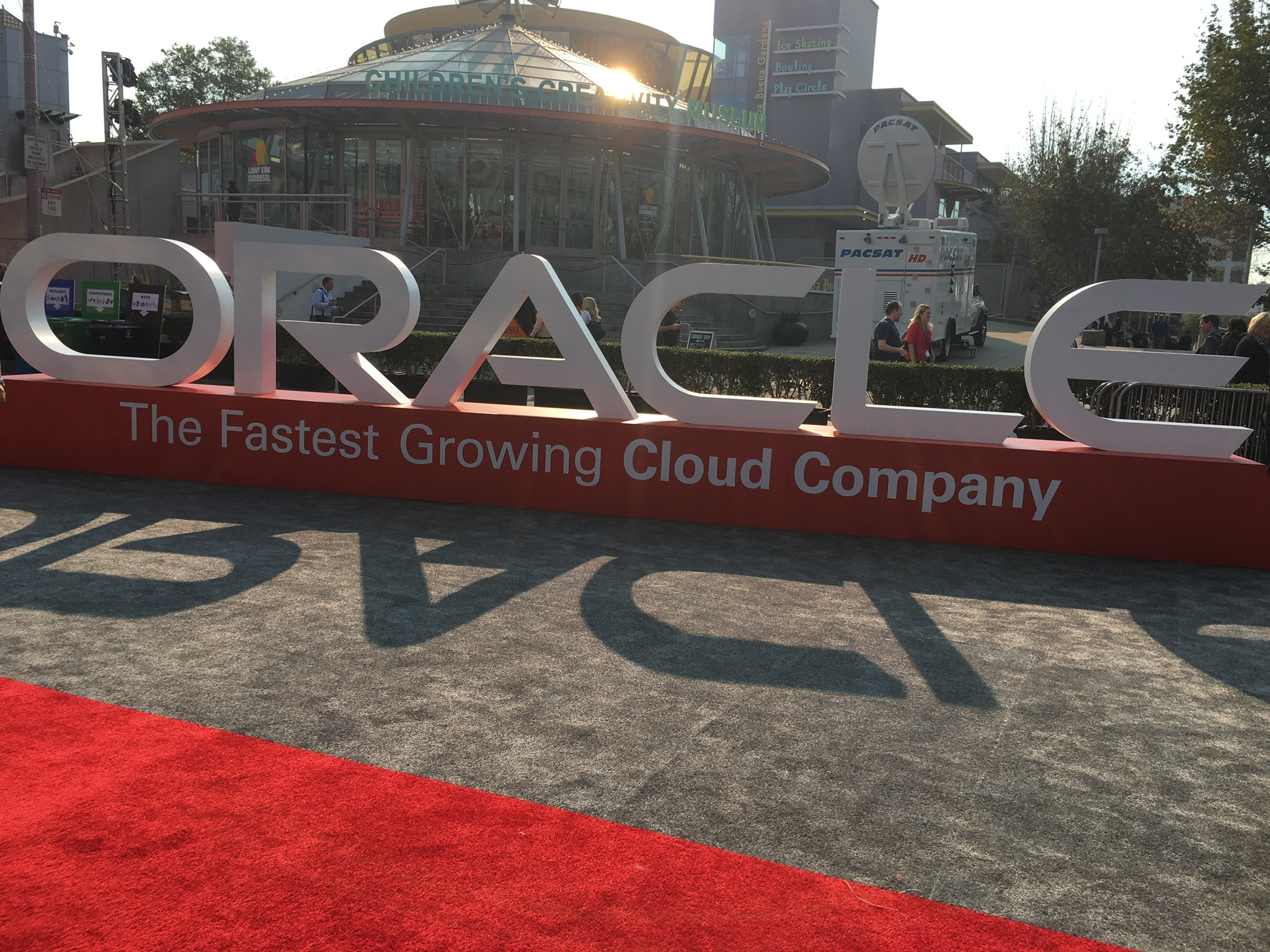 At 2016 Oracle OpenWorld in San Francisco.