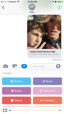 Rex's iMessage app.