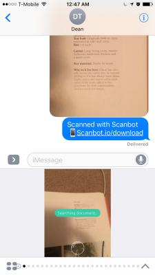 Scanbot's iMessage app.