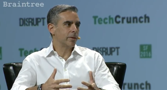 Facebook's David Marcus at TechCrunch Disrupt in 2016.